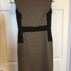 New York & Company Black/Tan Dress Size S